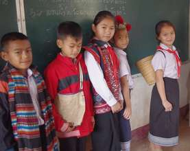 In Ethnic Dress at Phasouk Primary School