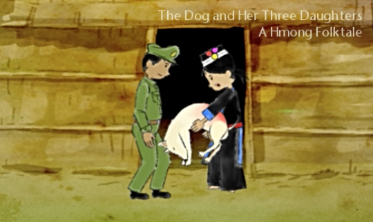 Animated still from a Hmong story