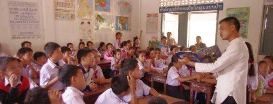 Sai at Sithan Primary School in Luang Prabang
