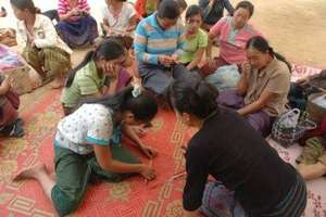 Handicraft training with ethnic artisans