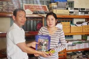 Books presented to Phongvan Primary School