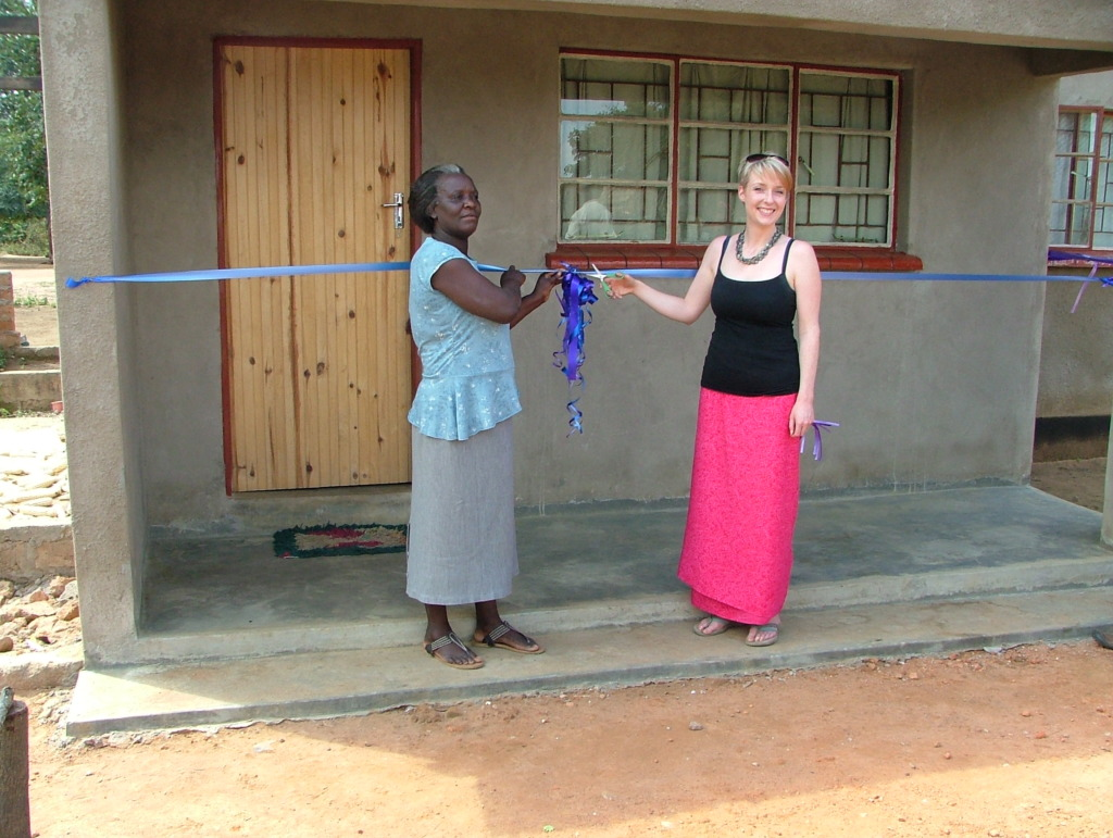 Helen and the Head officially open the new house!