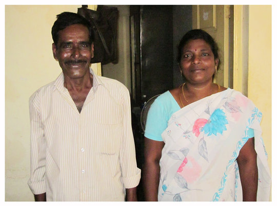 Kumar with Field Officer, Shanthi