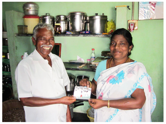 Kuppan with Field Officer, Shanthi