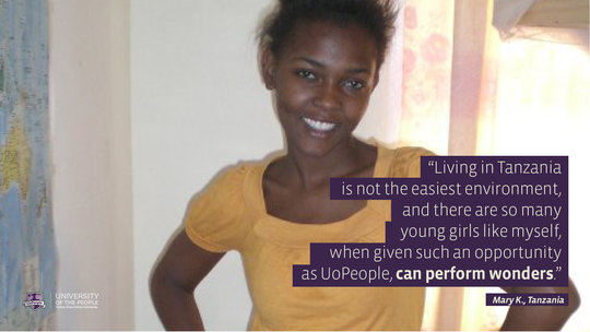 Student - Mary K., Tanzania