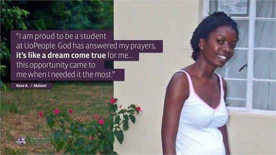 Student - Rose A., Malawi