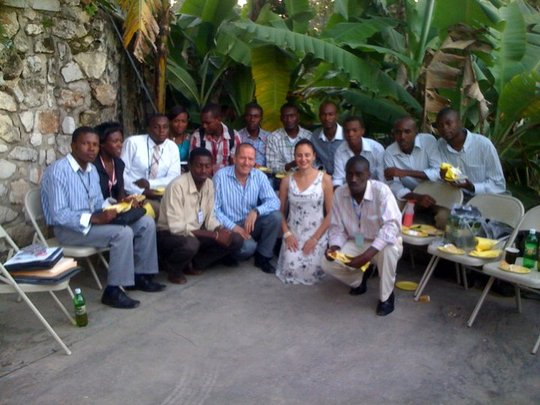 UoPeople President Reshef and Haitian Students