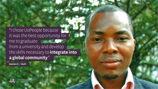 Student - Damien O., Haiti