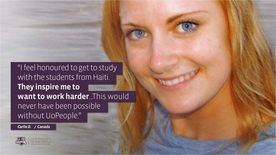 Student - Carlie D., Canada, talking about Haiti