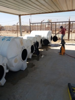 Maintaining the water tanks