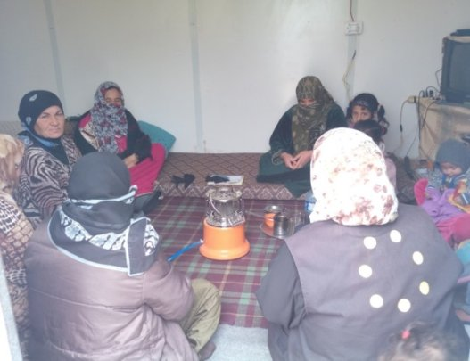 A group session with female refugees