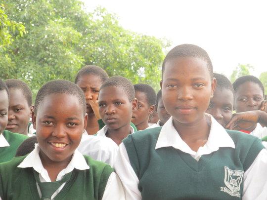 Students at Bishop Abiero Secondary School, Kenya