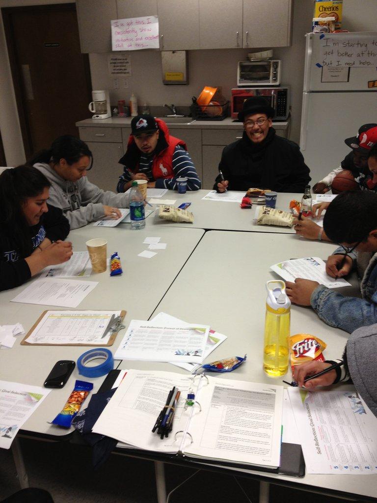Teens participating in YEP training