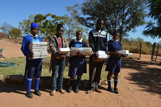 Mvuthu students just after purchasing stationery