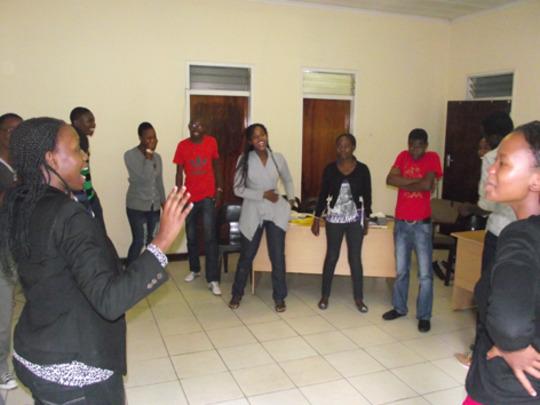 LUT Alumni in training session