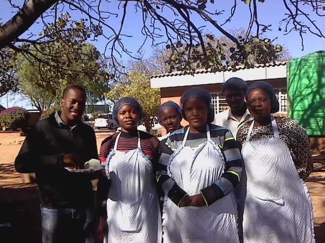 Dalumuzi with LUT-trained Mpopoma canteen owners