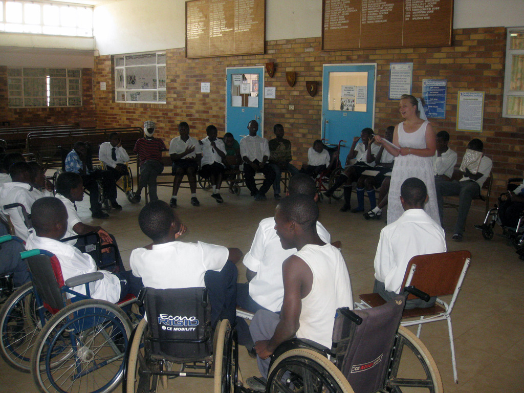 Training at King George VI School for the disabled
