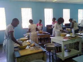 Unemployed youth in LUT catering training