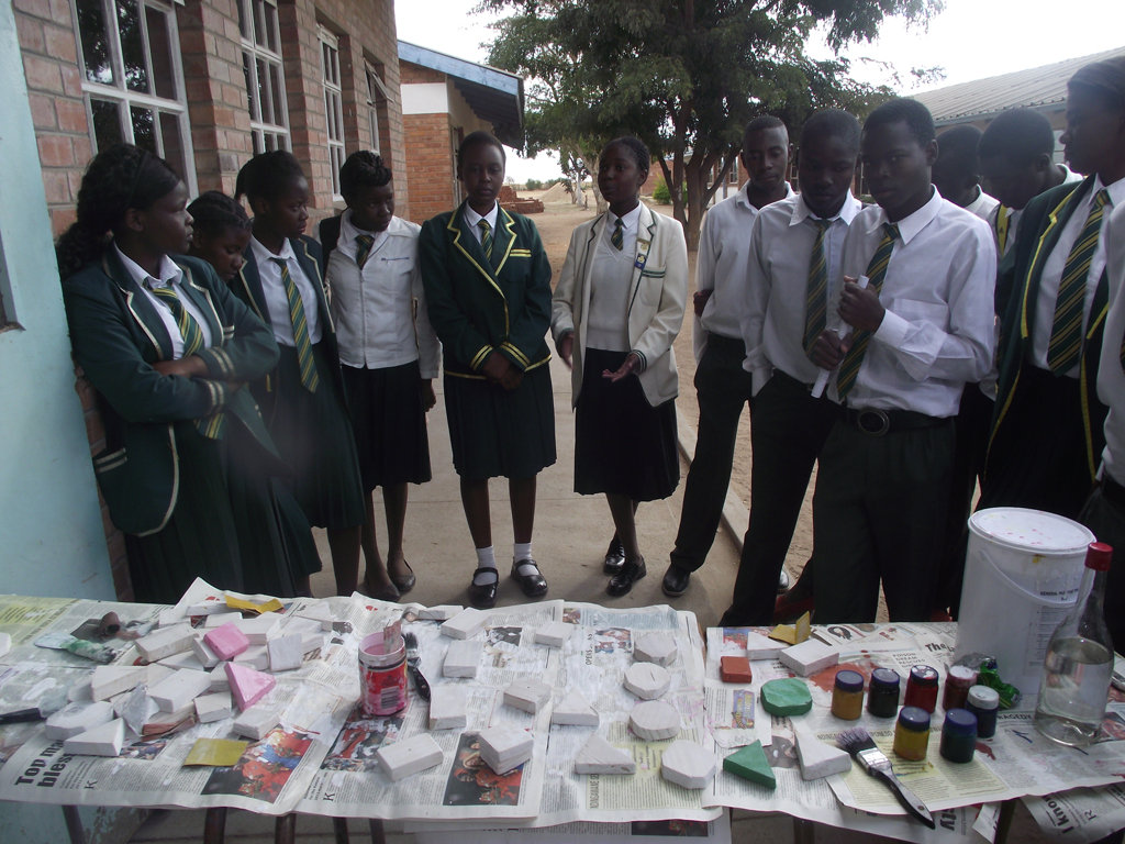 Sizane LUT students with educational blocks