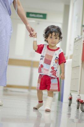 Child beneficiary of the Children's Burn Unit