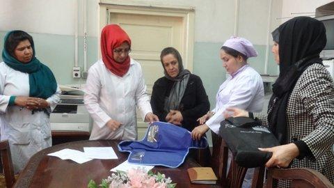 Staff training at Rabia Balkhi Hospital