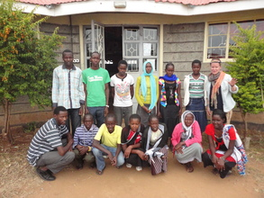 Board Member Jennie with Africa SOMA Scholars