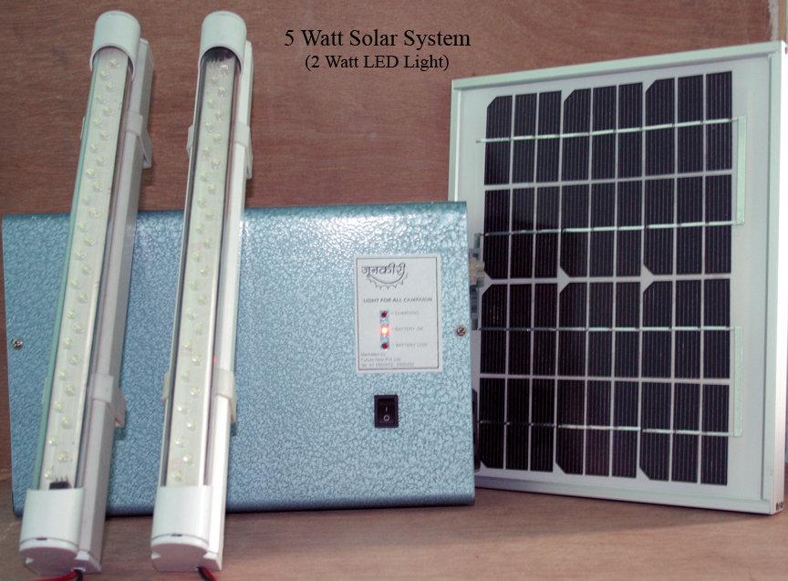 5 Watt Solar System with 2 Watt Light