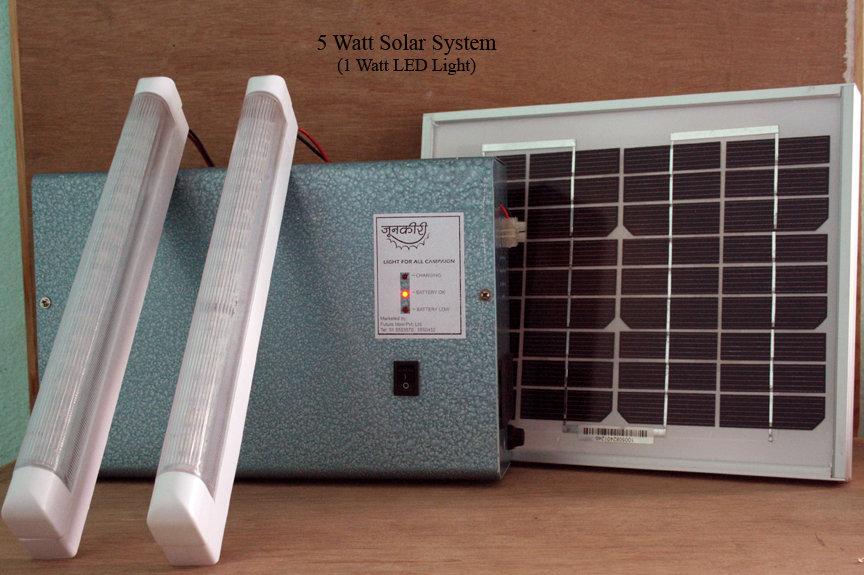5 Watt Solar System with 1 Watt LED Light