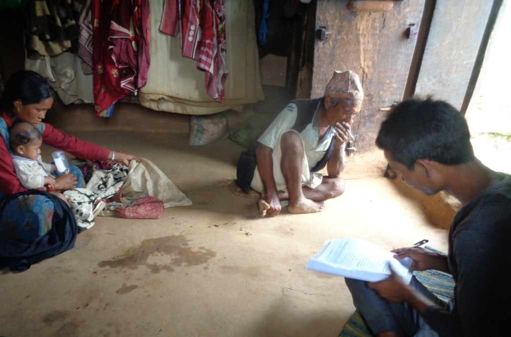 information collection through household visit