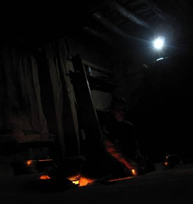 Cooking food by solar light