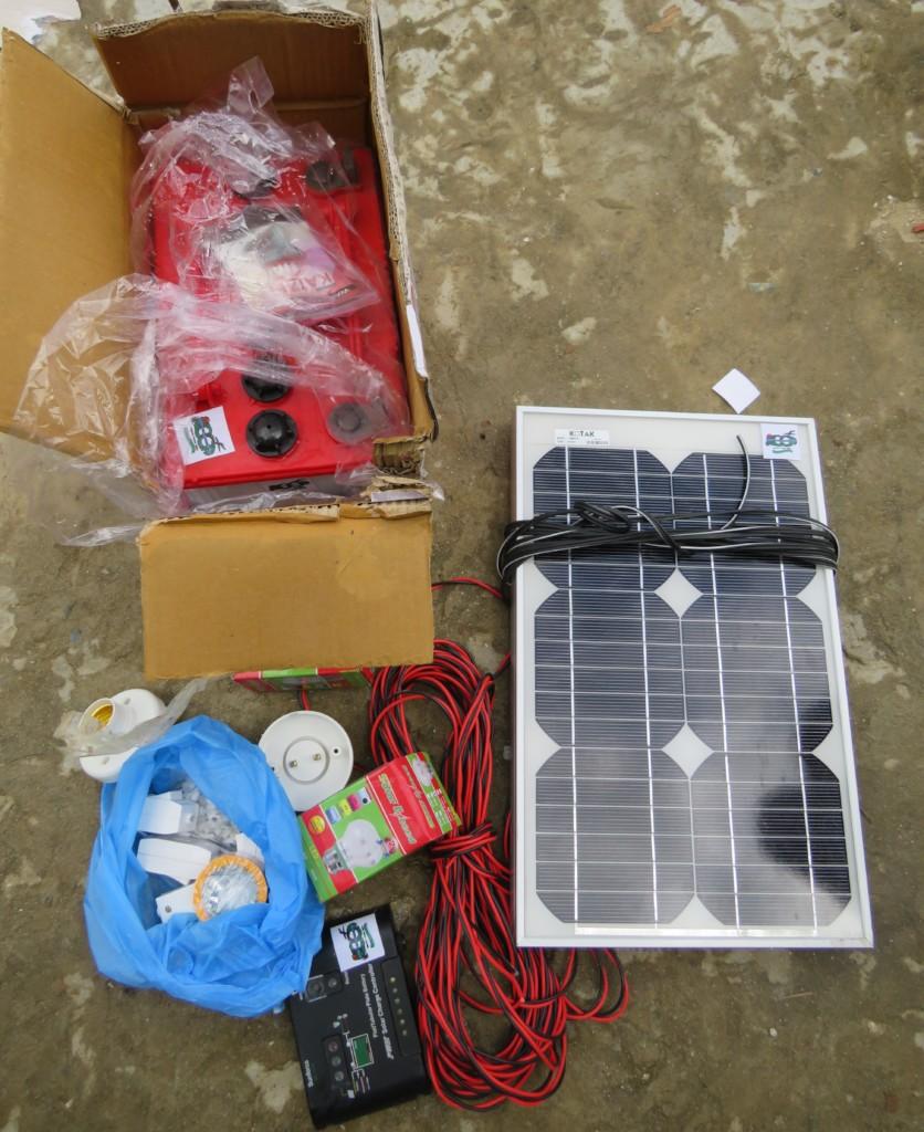 solar photo voltaic system set
