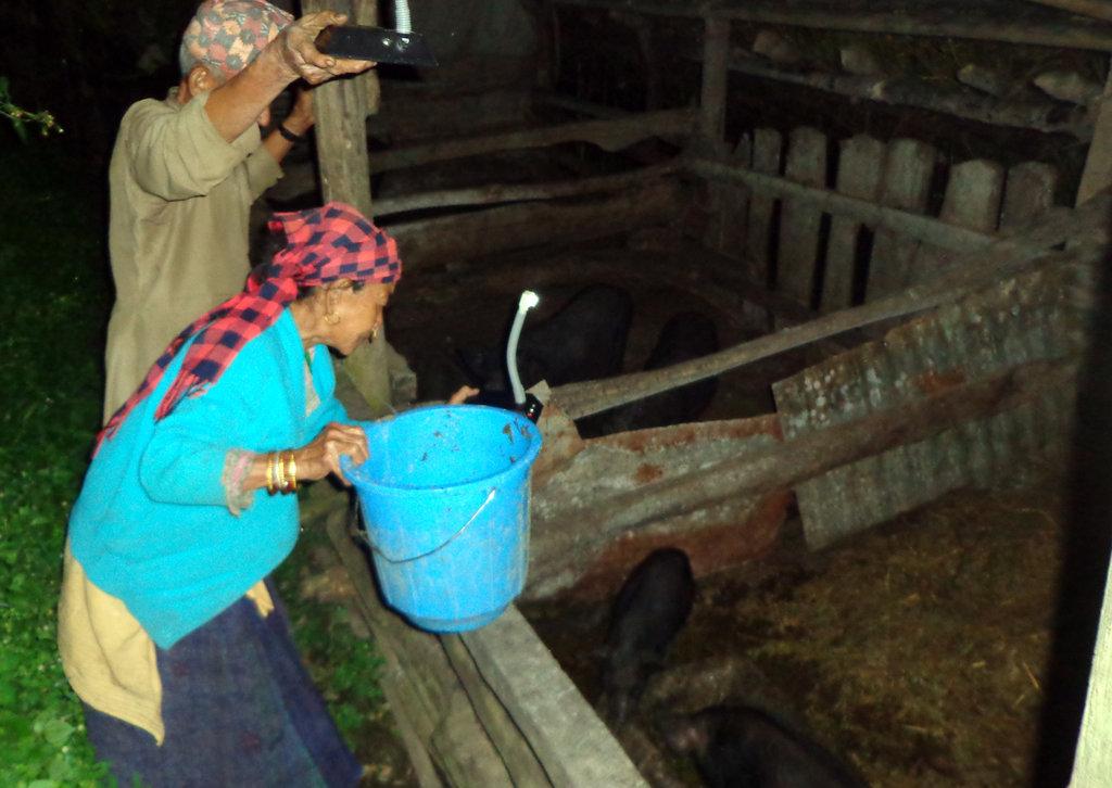 Family using Solar tuki for Economic Activitiy