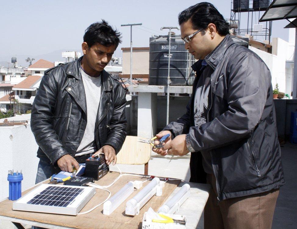 Solar Light Assembling Training for Youths