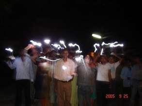 Solar Tuki walk for Community Awareness