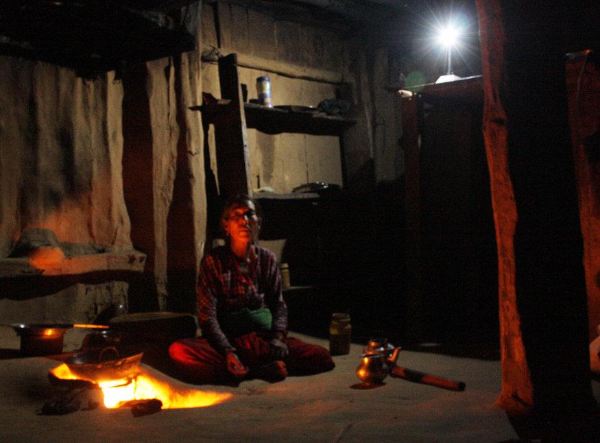 Use of Solar tuki during preparing evening meal