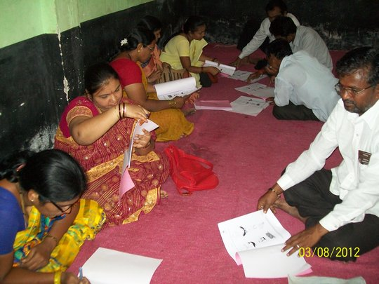 Teachers during a Darpana Workshop in Yadgiri