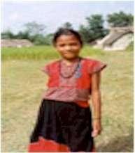 Tharu Girl in Traditional Costume