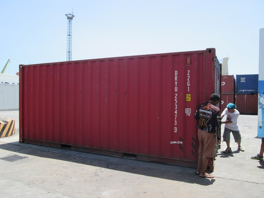AAI container of school books for flood victims