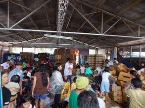 Evacuees in Mindanao Island