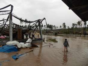 Flood striken area