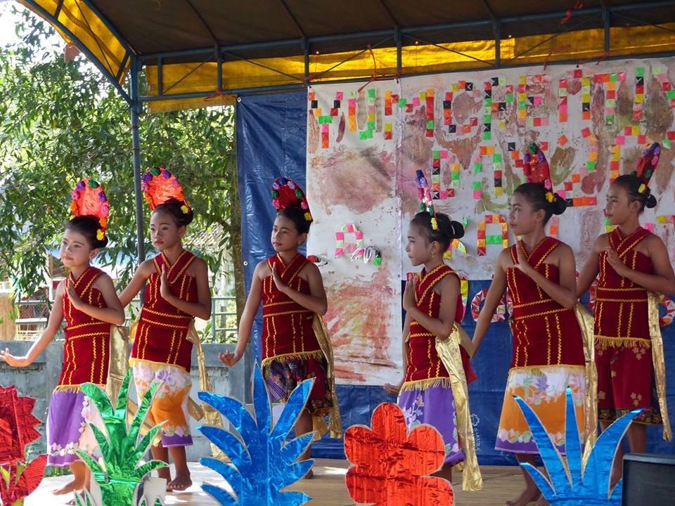 Dayak traditional dance performance