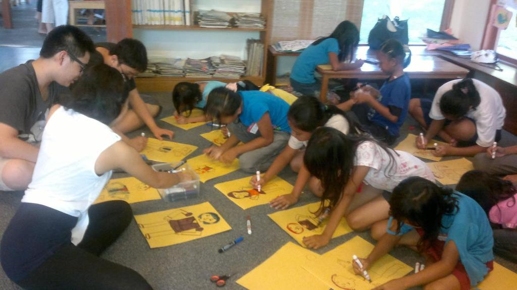Coloring activity with JIS students
