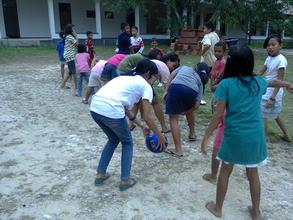 Outdoor games - let's play the ball!
