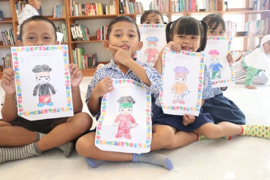 The participants of coloring competition