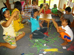 Children enjoy art and craft creativity