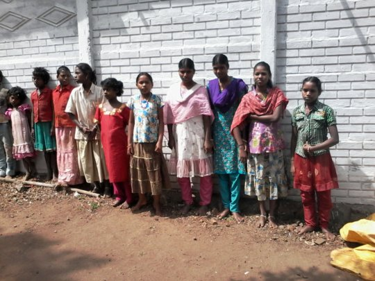 A group of tribe (beneficiary) girls