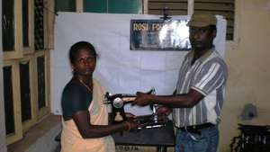 A beneficiary woman