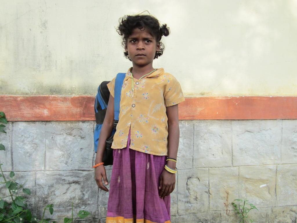 A beneficiary girl (Ms.Antiammal)