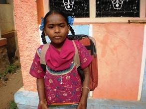 Ms.Rajeswari, a tribe girl benefited