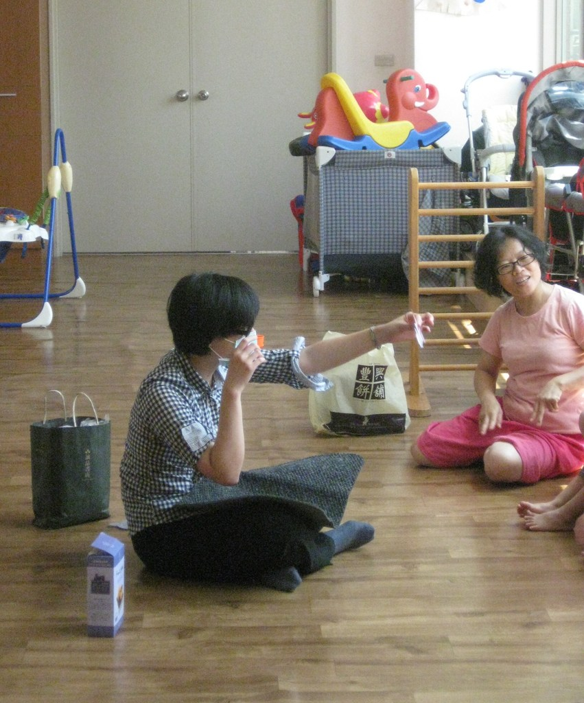 The speech therapist working with the children